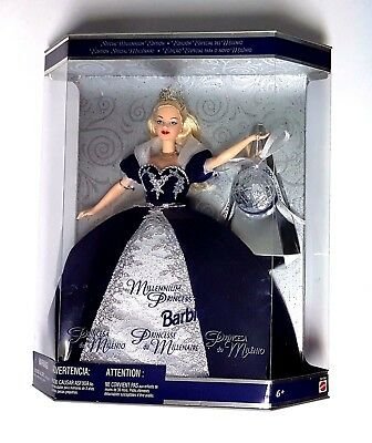 1999 Millennium Princess Barbie Doll - Never Removed From Box by Mattel