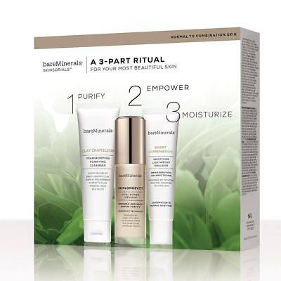 BareMinerals SKINSORIALS  A 3-PART RlTUAL SKIN CARE SET( BRAND NEW) PERFECT GIFT
