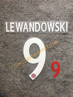 BAYERN MUNCHEN LEWANDOWSKI NAME SET SAISON 2017/2018 HOME Bundesliga FLOCK