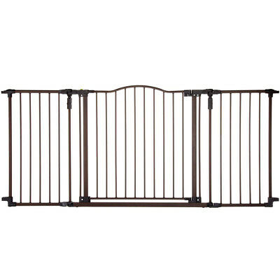 """North States Deluxe Decor 38-71"""" Wide Baby and Pet Metal Gate, Matte Bronze 4934"""
