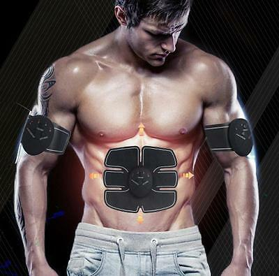 Ultimate Abs and Arms Muscle Simulator Training Gear Home Workout Exercise EMS