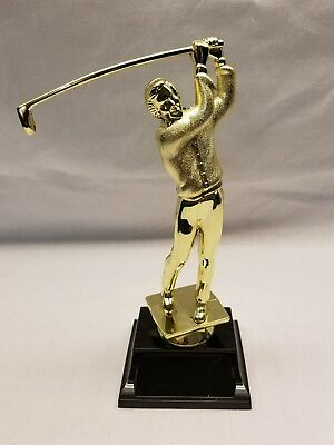 """7.5"""" gold male golfer trophy topper lot of 4 toppers"""