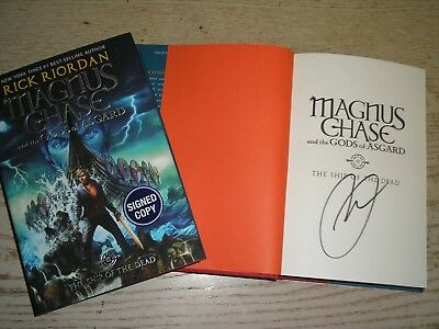 SIGNED 1st print/edition MAGNUS CHASE SHIP OF THE DEAD by Rick Riordan, Book 3