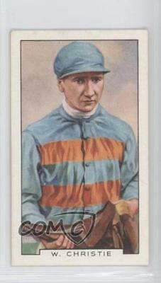 1936 Gallaher Famous Jockeys Tobacco Base #31 William Christie Card 1x2