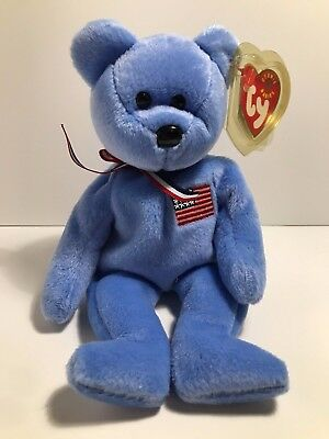 "Ty Beanie Babies Patriotic ""America"" w/Tags Excellent Condition 2001 9/11"