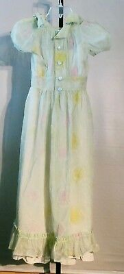 Vintage 1960's Girls Long Taffeta Satin 2 Piece Gown Zombie Princess Halloween