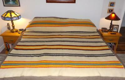 Rare Orr Health Blanket Native Indian Trade Striped 1920's Bold Colors Exc.!!