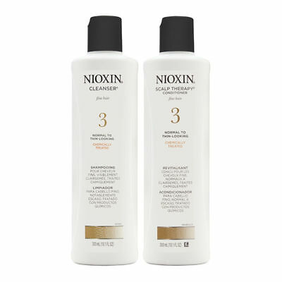 Nioxin System 3 Duo Cleanser + Scalp Therapy Normal/Thin Chemically Treated Hair