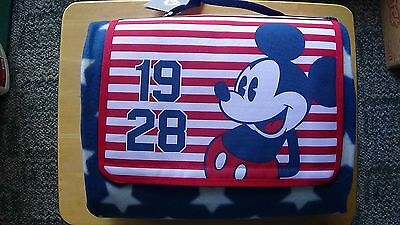 Disney Mickey Mouse Americana Picnic Blanket New with tag