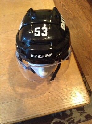 Casey Cizikas  Game Worn  NY Islanders Black 3rd Uniform Retired Hockey Helmet