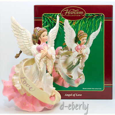 2003 ANGEL OF LOVE NEW Carlton Cards Red Heart Rose Color Ornament BEAUTIFUL
