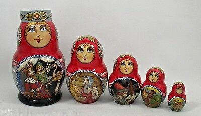 5p Collectible Russian Nesting Doll #3472 RUSSIAN FAIRY TALE