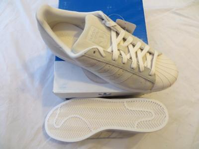 Adidas Men's Superstar Perforated Shell Toe Chalk White Sneakers Sz 11.5