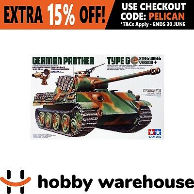Tamiya 35174 1/35 German Panther Type G Steel Wheel Version Model Kit