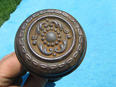 Vintage VICTORIAN Ornate BRASS DOOR KNOBS Matching Set EAST LAKE