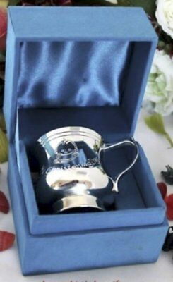 Baby Boy Christening Cup - Silver Plated  | Christening Gift