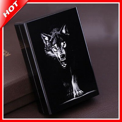 Wolf Laser Holds 20 Cigarettes Novelty Metal Cigarette Case Smoking Accessories