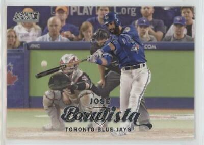 2017 Topps Stadium Club #37.1 Jose Bautista (Batting) Toronto Blue Jays Card