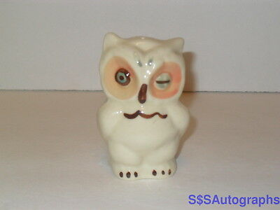 Antique VTG SHAWNEE 1950s WINKING EYE OWL Salt or Pepper Shaker WHITE CERAMIC