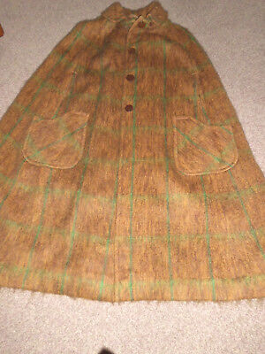 Vintage Wool & Mohair Cape - One Size