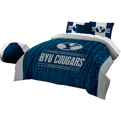 The Northwest Company Byu Cougars Modern Take Full/queen Comforter & Shams Set