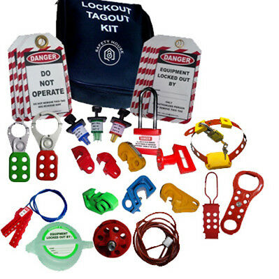 Lockout Tagout kit hasp cable lock mcb group lockout box key box