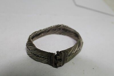 Antique Authentic Hand Made Balkan Ottoman Stunning Silver Woman  Bracelet.