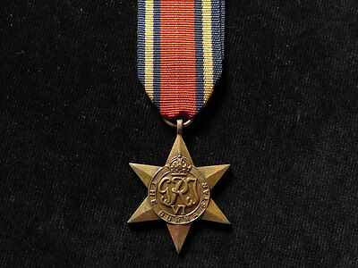 WWII Full-Size Burma Star Original Medal (with replacement ribbon)