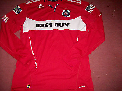 2011 Chicago Fire Player Issue Formotion L/s Soccer Jersey Football Shirt 2XL
