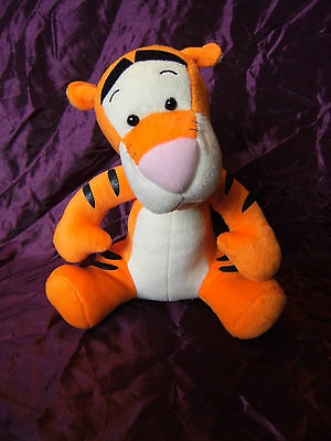 """Disney  Grand Smart Tigger Soft Toy 12"""" With Leather Feel Tail"""