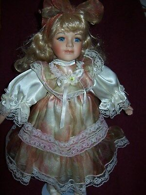 Beautiful Porcelain Doll - 16 Inches Tall - Very Good Condition - ESTATE FIND
