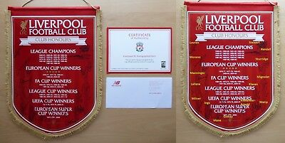2016-17 Liverpool Club Honours Pennant Squad Signed with Official COA (11562)