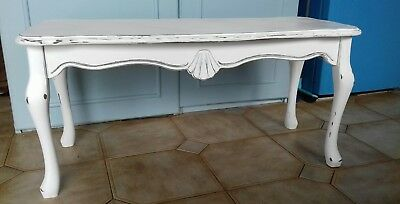White, Shabby Chic, Solid Wood Coffee Table