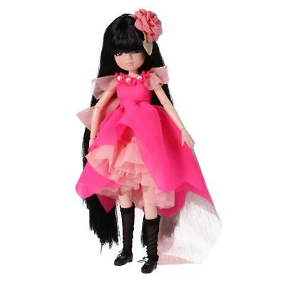 Flexible 30 Joints 27cm Fashion Vinyl Jointed Body Doll Toy Gift in Rose Red