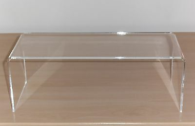 PERSPEX ACRYLIC DISPLAY CABINET STAND RISER 4mm SHELF slight seconds