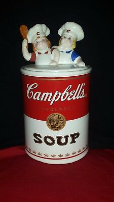 "Retro / Vintage 12"" Campbell Kids Soup Can Cookie Jar"