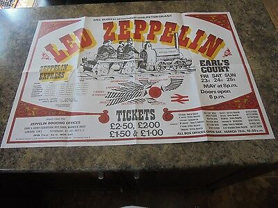 Led Zeppelin Earls Court 1975 Large Coloured Poster