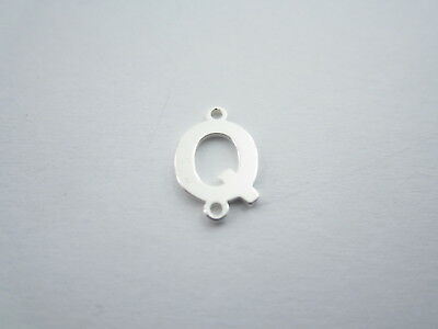 1 connettore 2 fori  lettera Q in argento 925 made in italy misure 11 x 6 mm