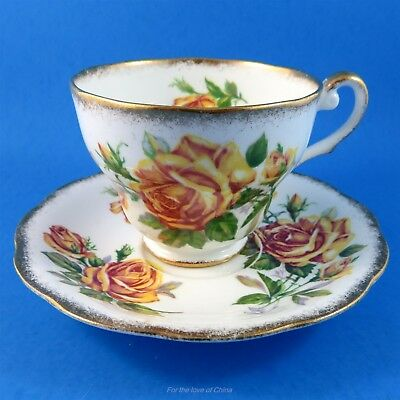 Pretty Yellow Romany Rose Royal Standard Tea Cup and Saucer Set