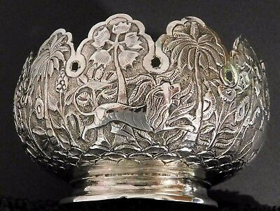 Anglo Indian Solid Silver Bowl. Lucknow, 1890s.  110 Grams