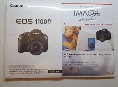 CANON EOS 1100D English User Manual Kit with CD - V6 | BRAND NEW
