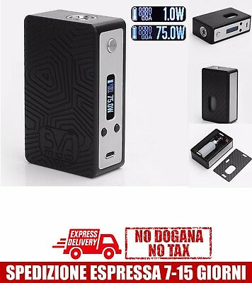 SVA 75W Style BF Squonk TC VW Box Mod - Black, 1~75W, 6.8ml Evolv DNA 75 Chip