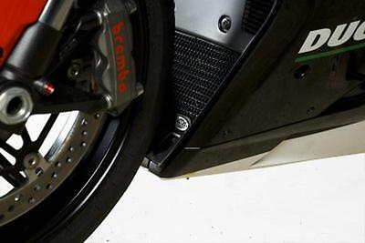 R&G RED RADIATOR GUARD for DUCATI 1198, 2009 to 2011
