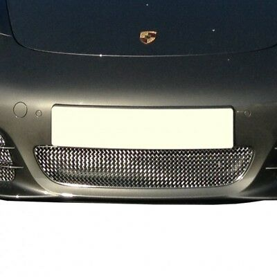 Zunsport Silver polished front centre grille for Porsche Boxster 981