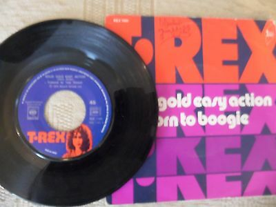 T.rex Single.solid Gold Easy Action.french Original Issue.