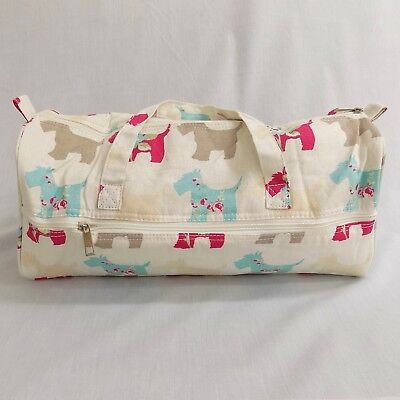 Scottie Dogs Project Bag with pocket, Knitting Needles, Sewing, Crochet, Yarn