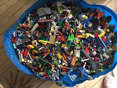 LEGO - 250g of MIXED Bricks Plates Parts & Pieces - 1/4 KG Bundle - GENUINE LEGO