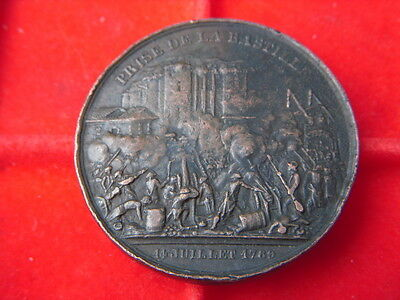 1789 French Medallion To Commemorate The Storming Of The Bastille B65