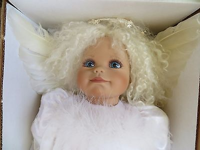 "Virginia Turner 19"" Vinyl Baby Doll ""Snow Angel"" In White Signed LE 97/500 Mint"
