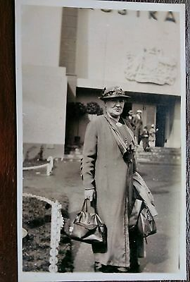 Woman With Bags Fashion Art People Postcard
